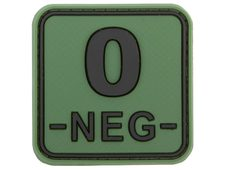 JTG Bloodtype Square Rubber Patch 0 neg