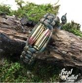 Real Bullet Design Paracord Armband Bullet Twins